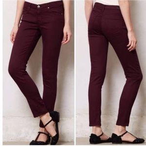 AG Adriano Goldschmied Plum Steve Ankle Jeans